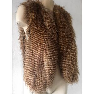 Twelfth Street by Cynthia Vincent Jackets & Coats - TWELFTH STREET BY CYNTHIA VINCENT FAUX FUR VEST S